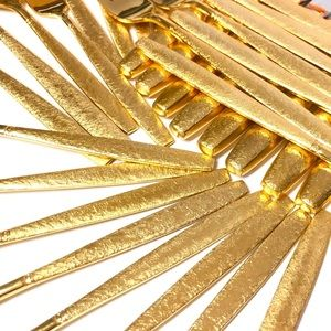 70pc Viners of Sheffield 23K Gold Plated SVC 12+